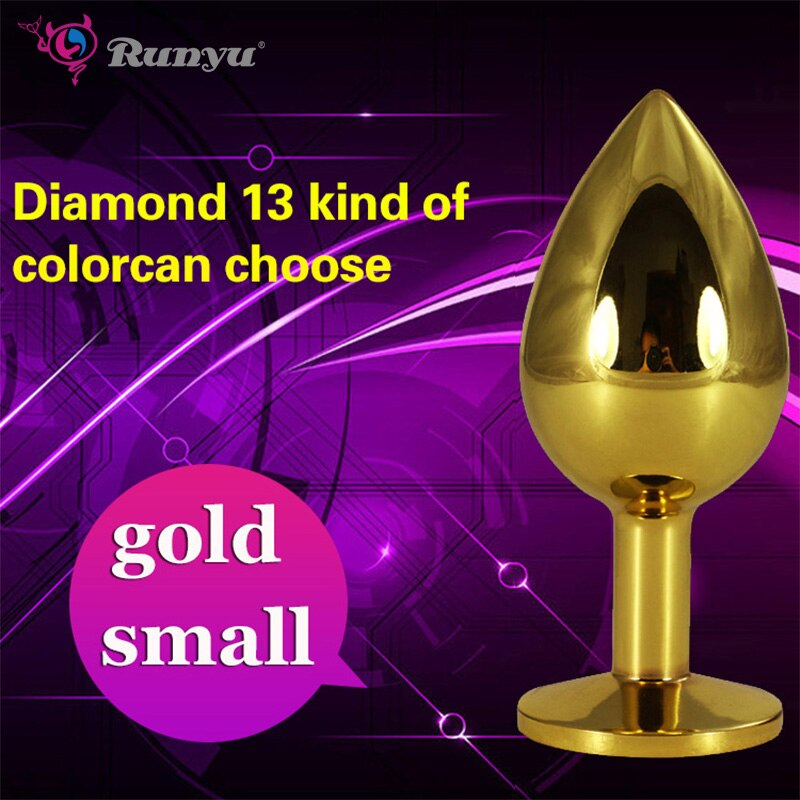 Confidential delivery 1PCS Small Size Metal Crystal Anal Plug Stainless Steel Booty Beads Jewelled Anal Butt Plug Sex