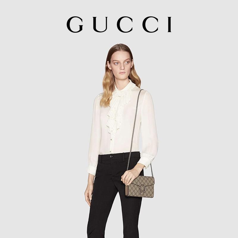 🔥【9.9】Gucci Dionysus GG Supreme Canvas Chain Bag