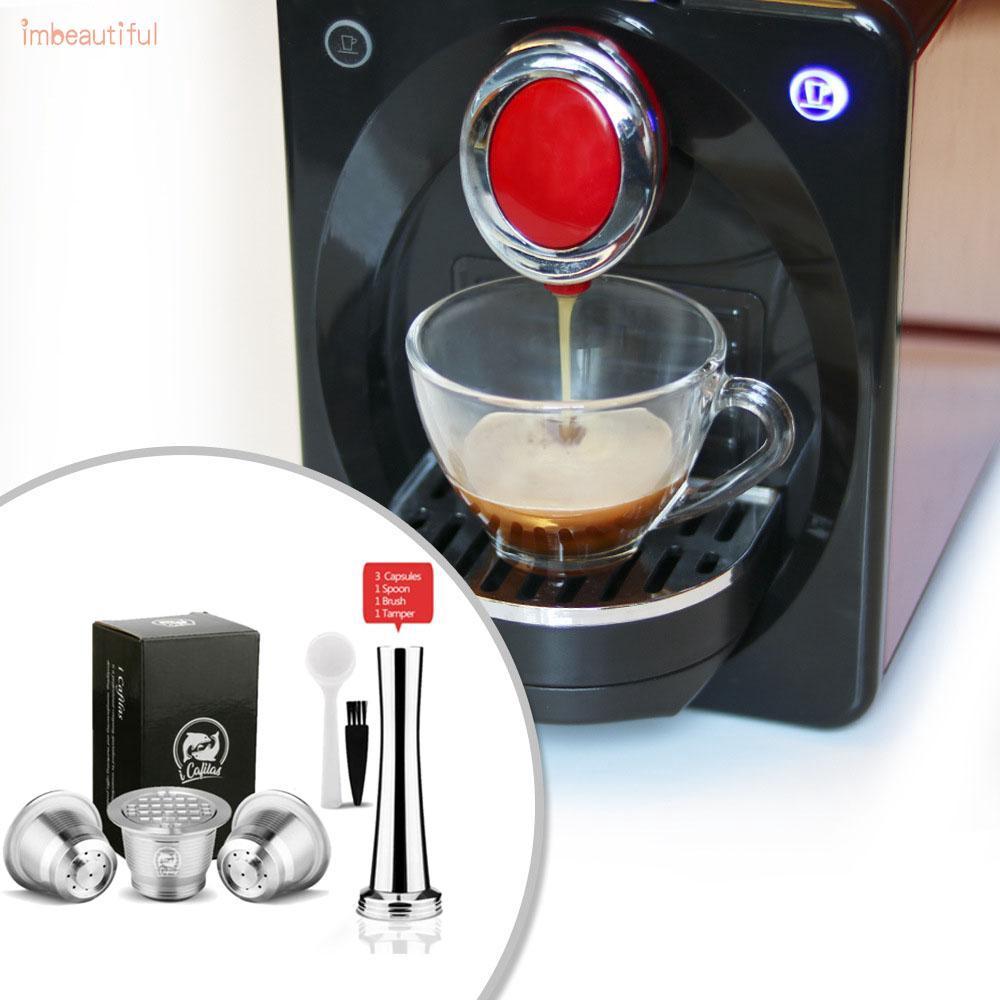 อุปกรณ์สําหรับชงกาแฟ สำหรับเครื่องทำกาแฟ Nespresso พร้อมแปรงและแคปซูล