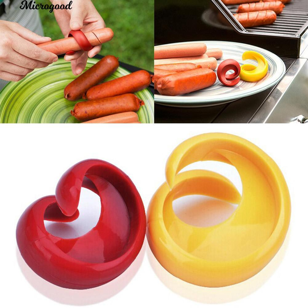 🍳Manual Fancy Sausage Cutter Hot Dogs Spiral Slicer Home Barbecue Gadget