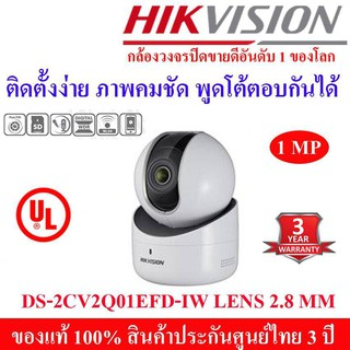HIKVISION IP Camera DS-2CV2Q01EFD-IW 1MP WIFI PT CAMERA Lens 2.8mm.