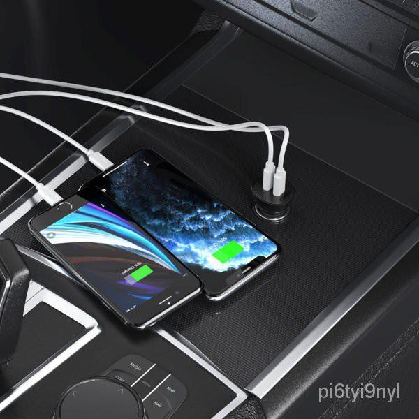 หัวชาร์จในรถ หัวชาร์จเร็วในรถ  Choetech Dual PD18+PD18 / 36w Car Charger (PD,FCP,QC) TC0008 rNax