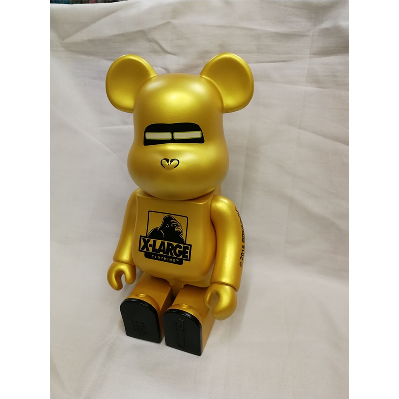 Gold X-large Peking Opera Mask Red Lucky Rabbit Bearbrick 400% Action Figure Collection Toy