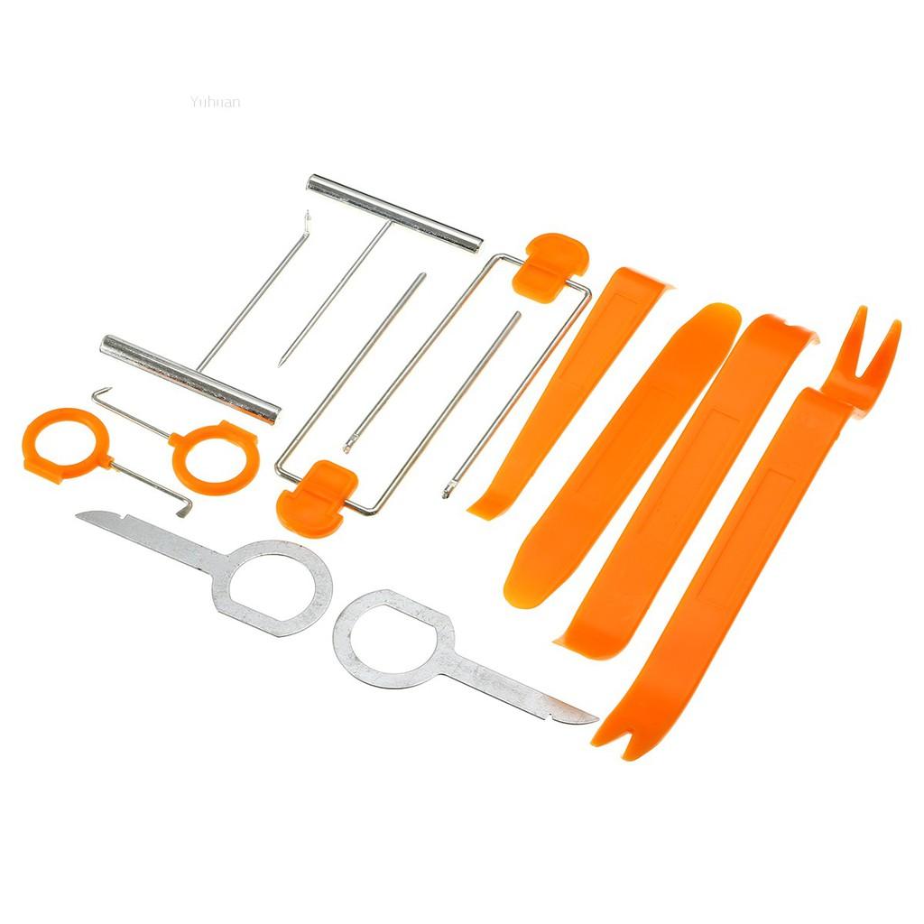 12pcs Car Door Plastic Trim Panel Dash Installation Removal Pry Tool Kit Set Hot