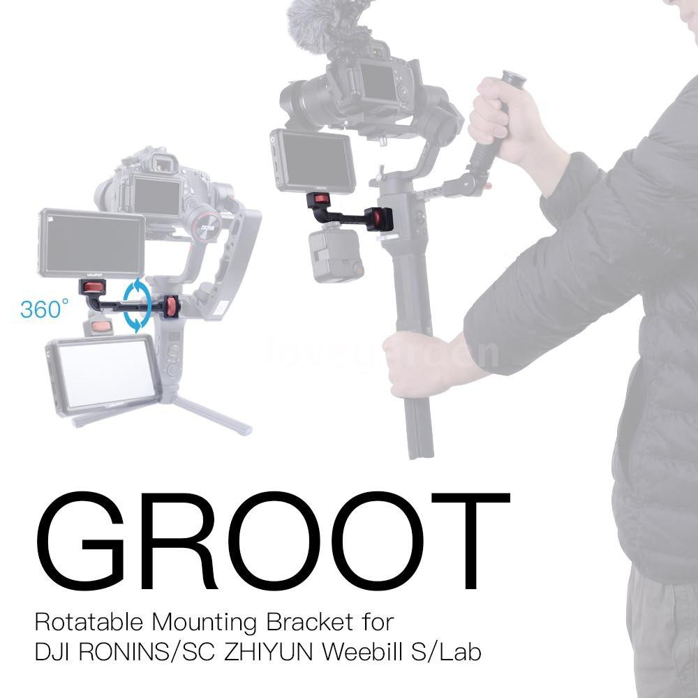 gazechimp Handle Grip L Bracket Mount for DJI Ronin-s Zhiyun Smoth 4//Crane 2 Gimbal