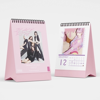 2021 ปฏิทินตั้งโต๊ะ แบล็กพิงก์ BLACKPINK New Album Desk Calendar LISA JINNIE Plan Mark Note Table Calendars