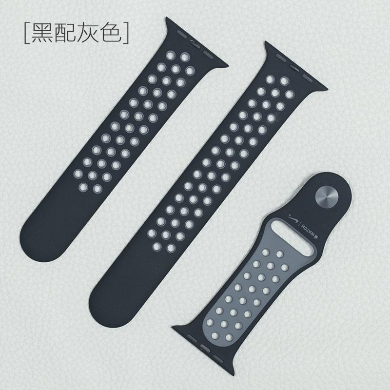 ⚡♨Applewatch series5 Nike สายนาฬิกาซิลิโคนกีฬาสายนาฬิกา Apple Watch