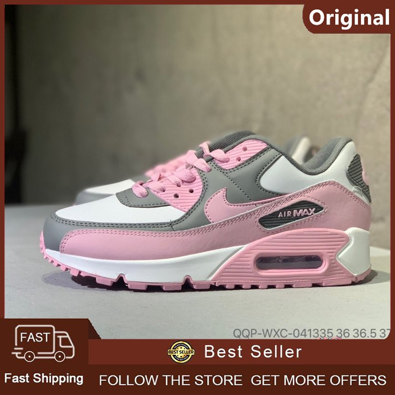 [ของแท้ 100%] Nike Air Max 90 Casual Air Cushion Classic รองเท้ากีฬา (สีชมพู)