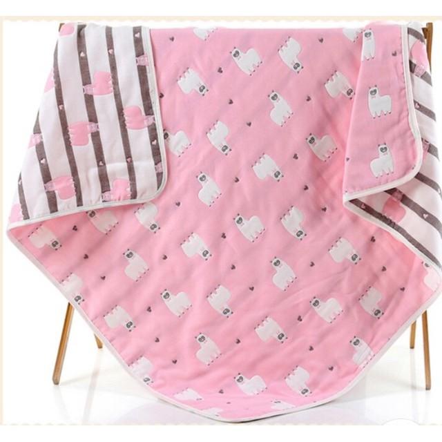 ขายดี! ผ้าห่มสาลูทอ6ชั้น 6ฟุต(180*200) ถูกมาก!