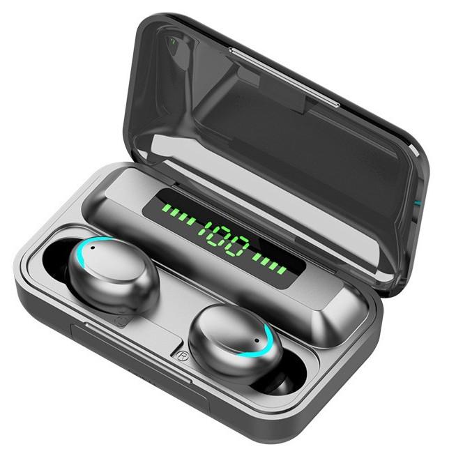 TWS Wireless bluetooth 5.0 headset Earphone Earbud หูฟังบลูทูธ สเตอริโอ  หูฟังเล่นเกมส์ แยกเสียงซ้ายขวา รุ่น F9   Shopee Thailand