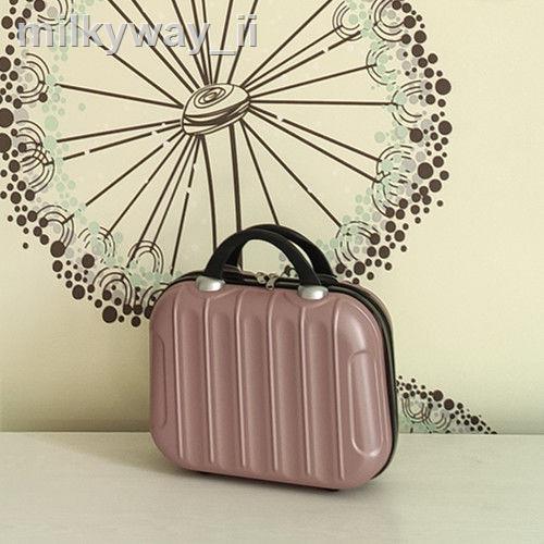 ☫☫กล่องใส่เครื่องสำอางแบบพกพาขนาดเล็กรุ่นเกาหลี 14 นิ้วกระเป๋าเดินทางใบเล็ก 16 ใบกระเป๋าเดินทางแบบกันน้ำและแบบพกพากระเป