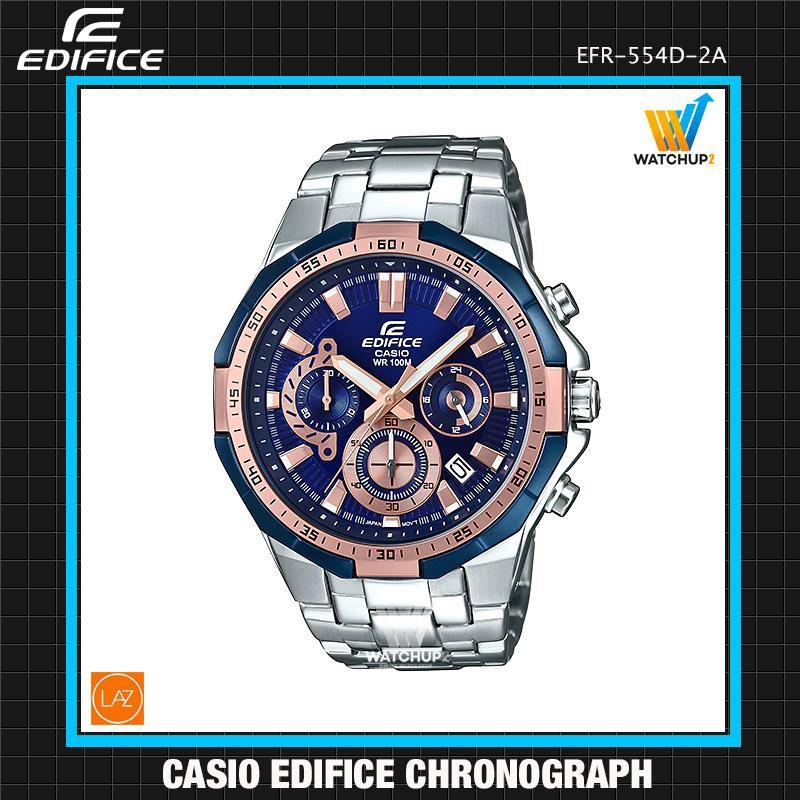Casio Edifice นาฬิกาข้อมือผู้ชาย สีดำ สายสแตนเลส รุ่น EFR-554D EFR-554D-1A EFR-552D-2A EFR-554D-1A9
