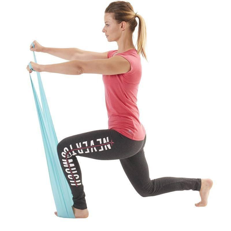ยางยืดออกกำลังกาย  พิลาทิส DOMYOS แท้ 100 %ผ้ายืดออกกำลังกาย ยางยืดแรงต้าน  ยางยืดออกกำลังกายแรงต้านสูง