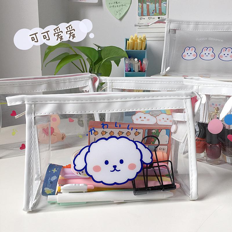 กระเป๋าดินสอ ครื่องสำอาง กันน้ำ มีซิป แบบพกพา เดินทาง ลายกระต่ายน่ารัก หมี สำหรับเด็กผู้หญิง