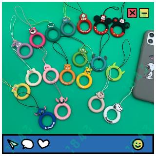 Review สายโทรศัพท์มือถือ Cartoon Series Mobile Phone Silicone Sling Short Silicone Ring Rope Soft Key lanyard