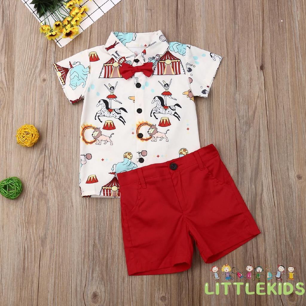 2PCS Newborn Infant Baby Boy Outfits Clothes Set Romper Bodysuit+Gentleman Pants