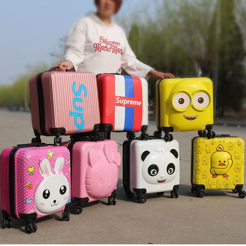 กระเป๋าเดินทางการ์ตูนเด็กประถม 20 นิ้วกระเป๋าเดินทางเด็กผู้ชายและเด็กผู้หญิงน่ารักเจ้าหญิงกระเป๋าเดินทางกระเป๋าเดินทางล้
