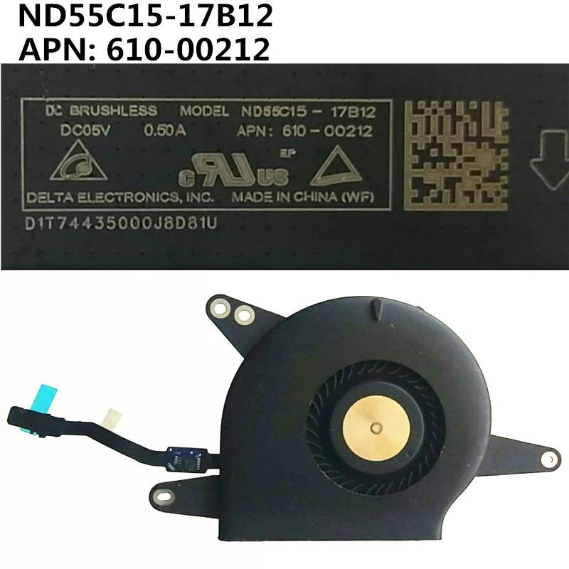 พัดลมระบายความร้อน Apple Macbook A1932 Fan Nd55C15-17 B12 Apn : 610-00212