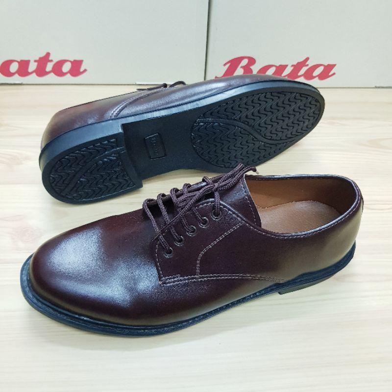 รองเท้าหนัง Bata ผูกเชือก สีดำ สีน้ำตาล (37-46)