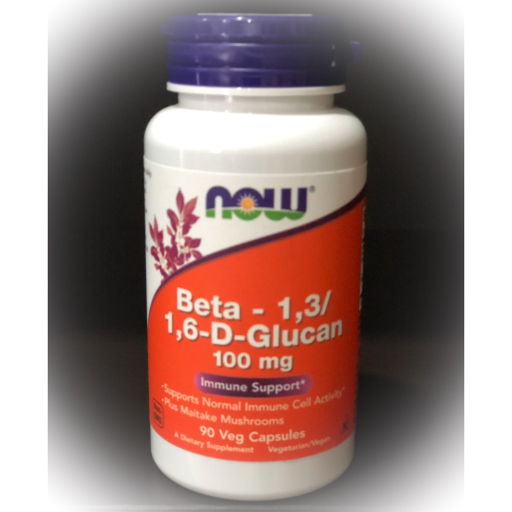 Now Foods, Beta-1,3/1,6-D-Glucan, 100 mg, 90 Vcaps
