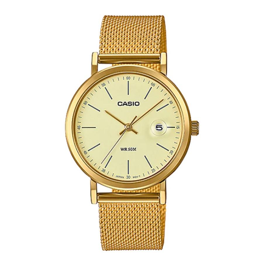 ◐✕Casio Standard นาฬิกาข้อมือผู้หญิง สายสแตนเลส รุ่น LTP-E175M-1E,LTP-E175MG-9E
