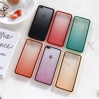 Review เคสไอโฟน เคสแข็ง iPhone X XR XS Max 7 8 Plus 6 6S Plus Creative Gradient Color Acrylic Hard Case