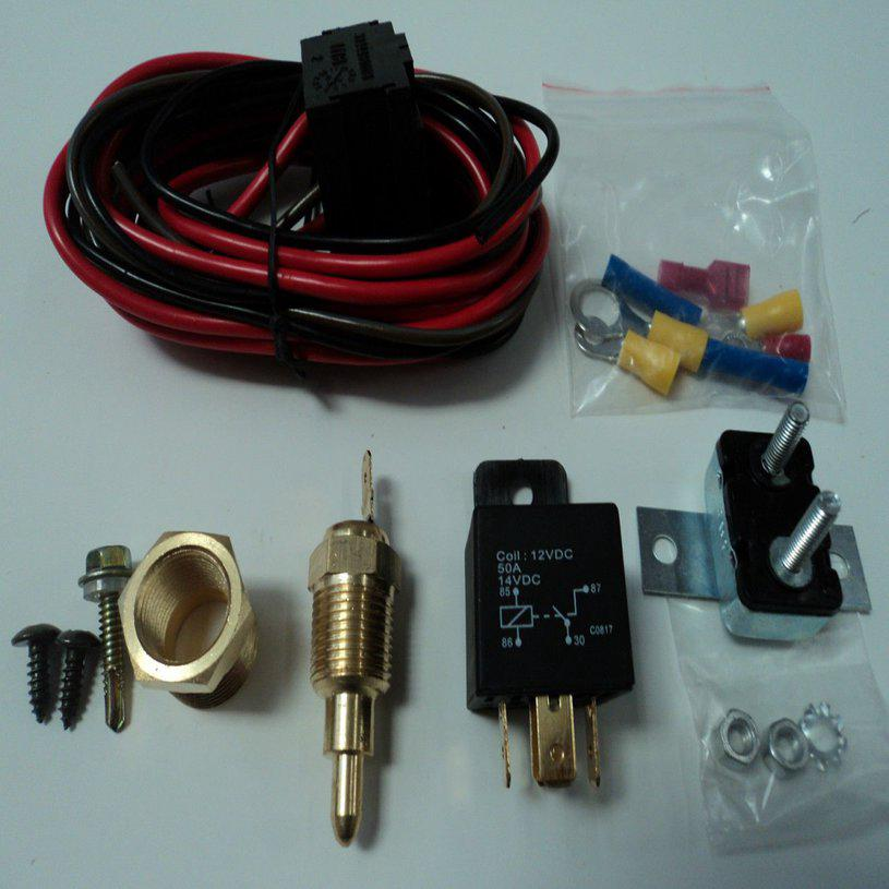A14/Electric Fan Wiring Install Kit Complete Thermostat 50