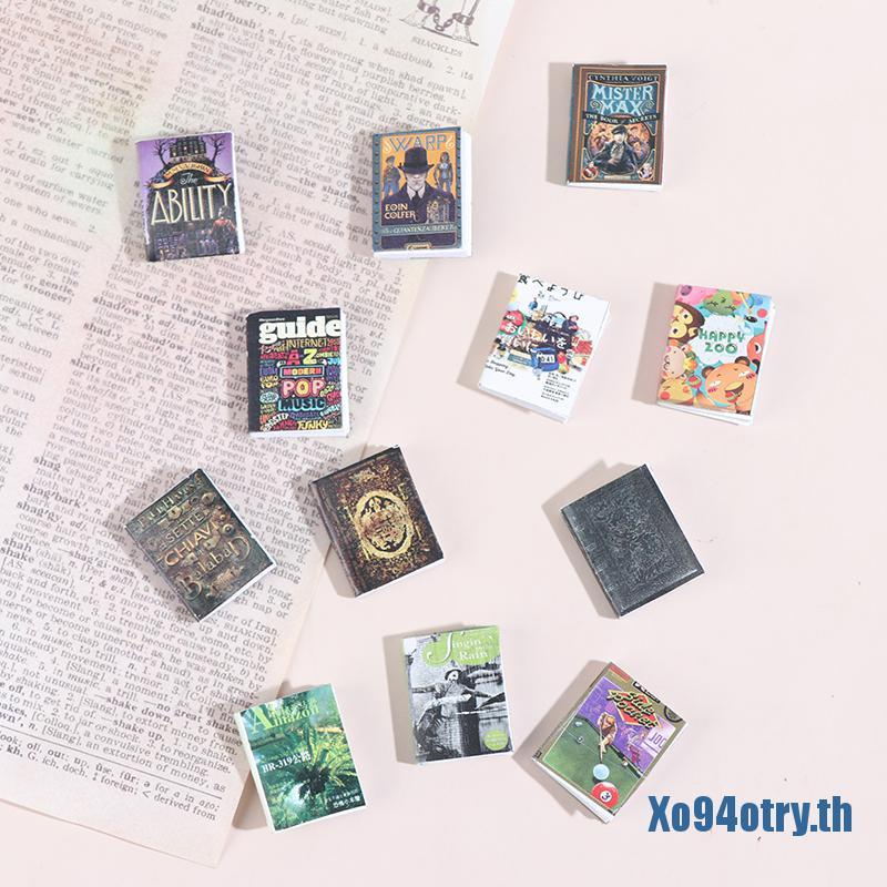 ༺๑Xo94otry๑༻1PC Mini Books Toys 1:12 Dollhouse Miniature Furniture Book Toy Decoration