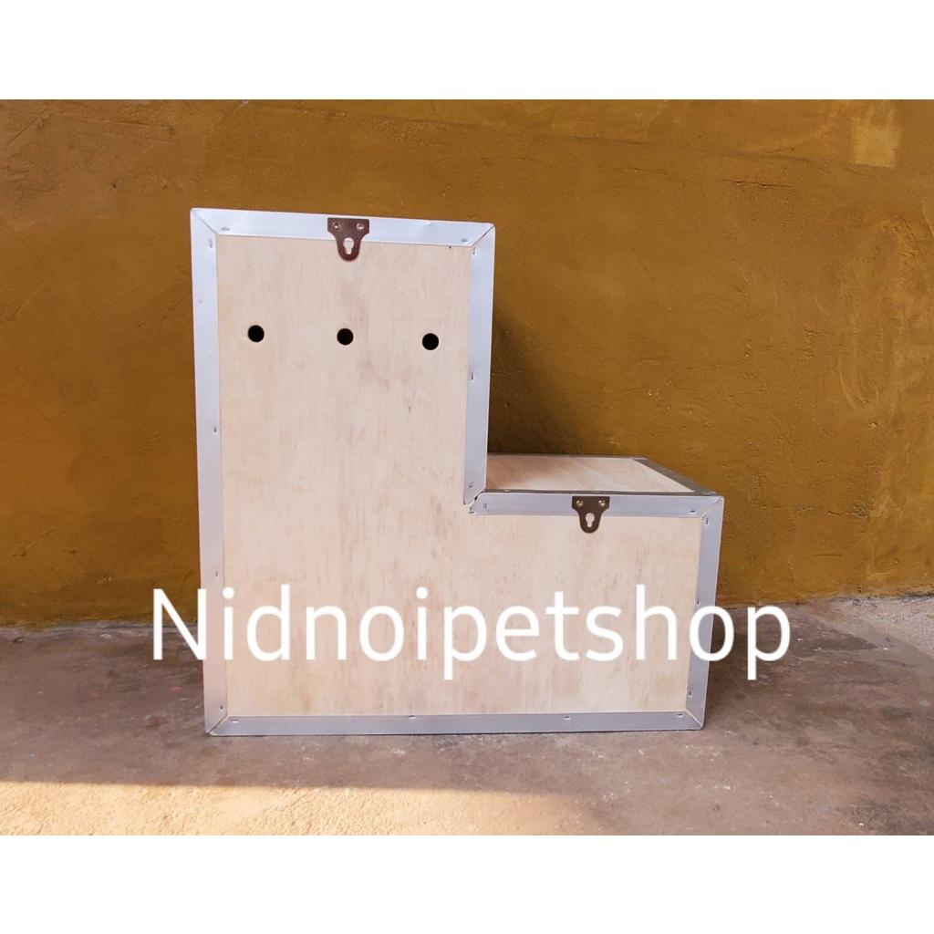 ▫✲❖กล่องเพาะนก(กล่องขนาดกลาง ทรง L)รังเพาะนก กล่องนอน  แอฟริกันเกรย์  อิเคล็กตัส  กระตั้วและนกขนาดเล็ก ขนาดกลาง ราคาโรงง