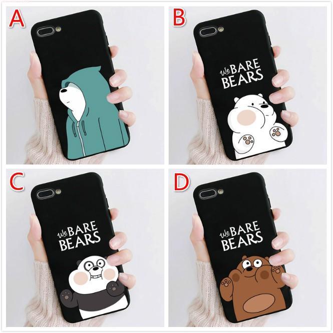 เคส Samsung J7 Prime J4 J5 J6 J8 J7 Pro A5 A6 A7 A8 A9 A10 A20 A30 A50S A30S A60 A51 A71 Plus การ์ตูน เราเปลือยหมี แพนด้า หมีน้ำแข็ง หมีสีน้ำตาล Phone Case