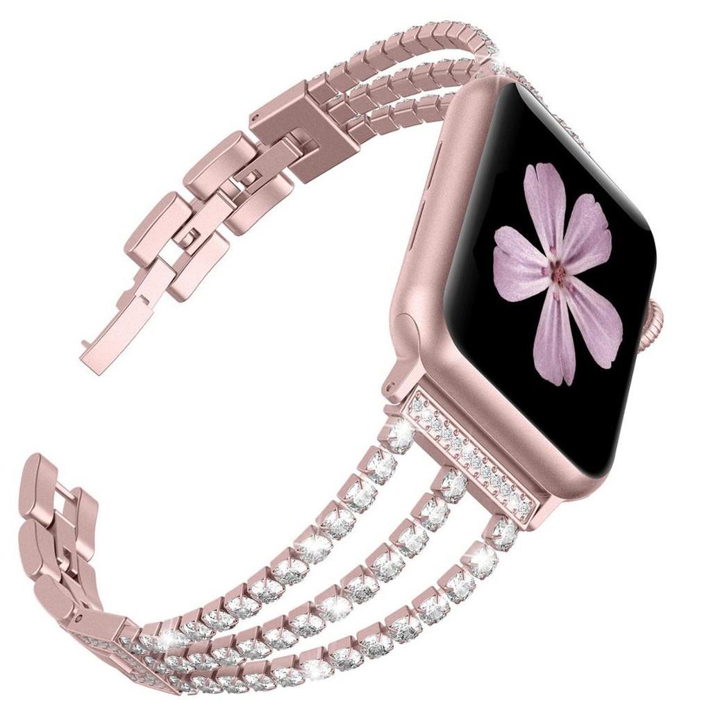 สาย applewatch สายนาฬิกา applewatch สายนาฬิกา Apple Watch 44 มม. 40 มม. 42 มม. 38 มม ฟุ่มเฟือย รูปสี่เหลี่ยมขนมเปียกปูน
