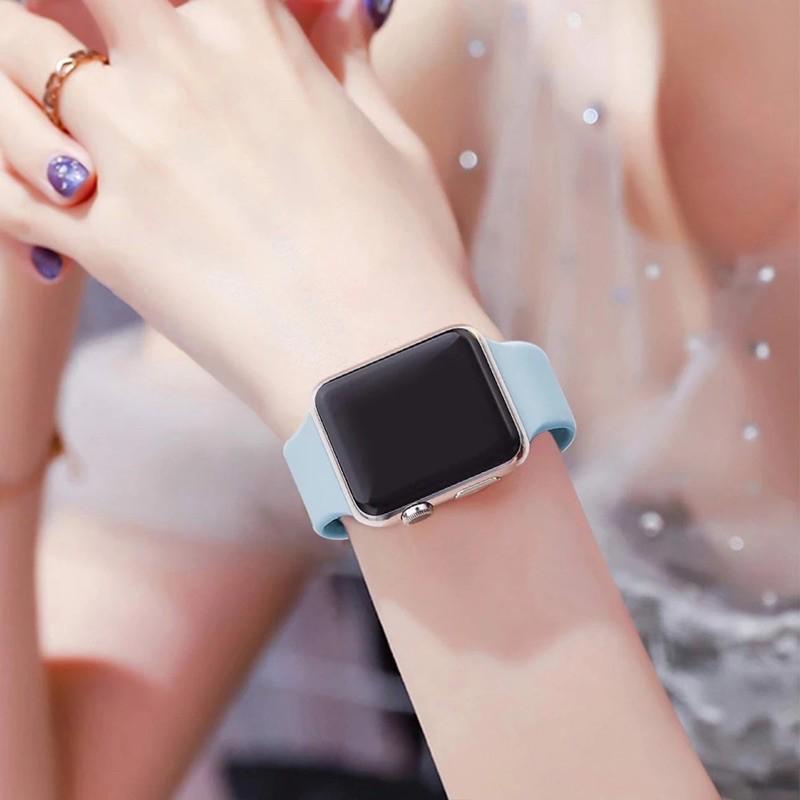 ●สายซิลิโคนสำรองเปลี่ยน สาย สําหรับ Apple Watch Series 1/2/3/4/5/6 สําหรับApplewatch iWatch 38mm 40mm 42mm 44mm1