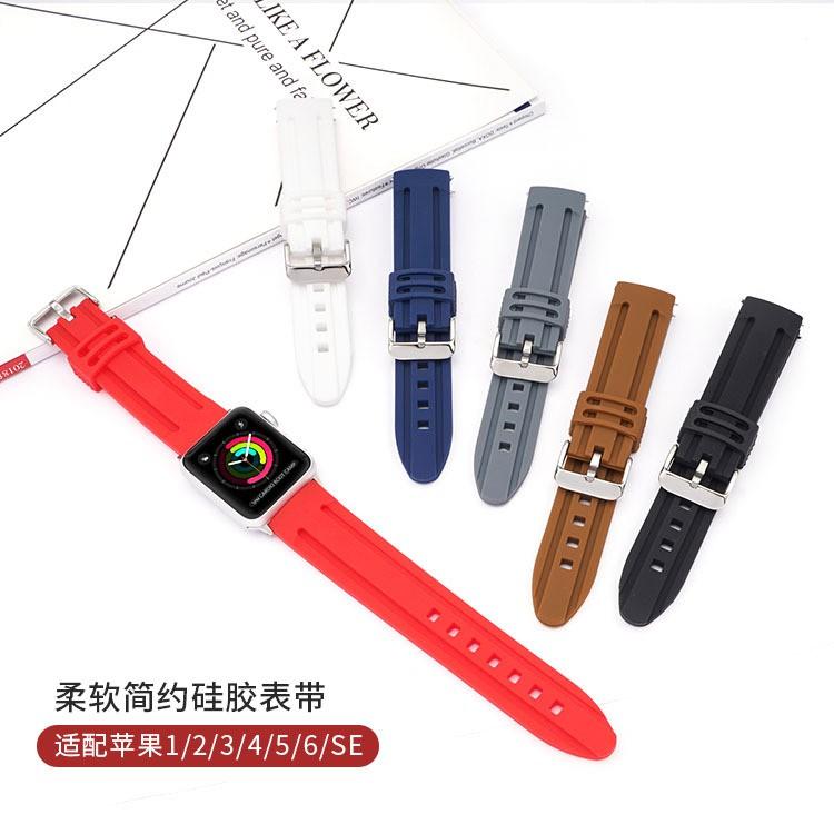 เคสนาฬิกา applewatchสายรัดซิลิโคนใช้ได้iwatchสาย Apple6สายนาฬิกาธุรกิจที่เรียบง่ายและอ่อนนุ่มapple watchสายapplewatch