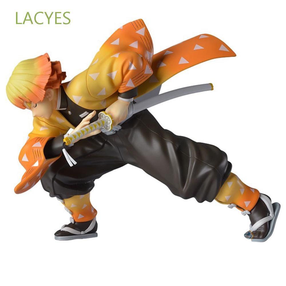 LACYES Demon Blade Figure Model Doll Gift Kimetsu no Yaiba Demon Slayer Toys Action Figure PVC Toy 15cm Japanese Anime Agatsuma Zenitsu