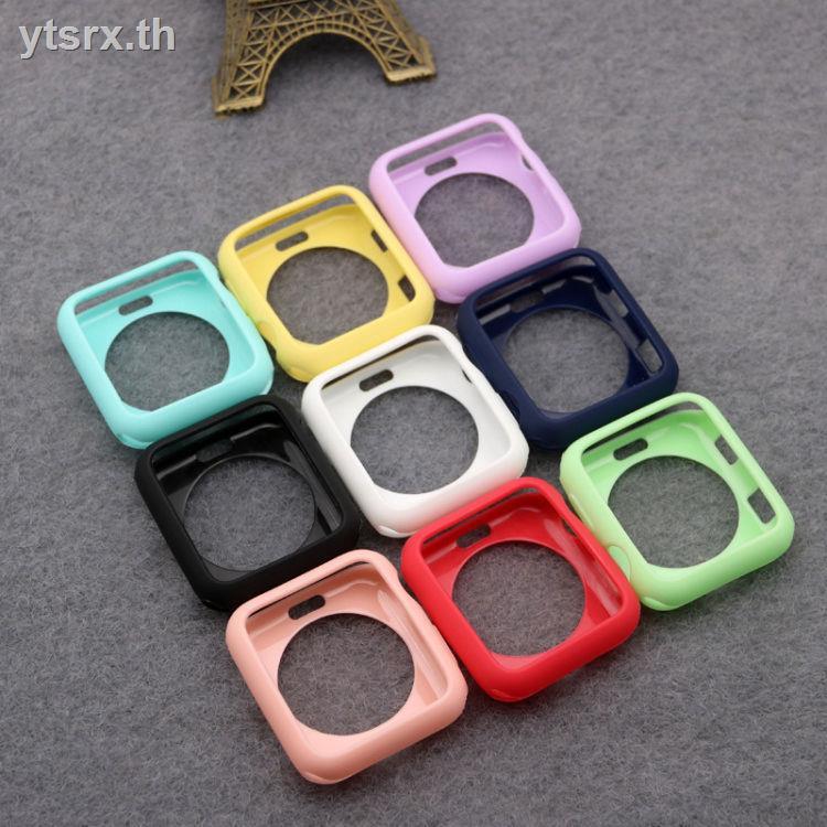 พร้อมกระจกนิรภัยป้องกันหน้าจอเคส Apple Watch Caseนาฬิกาข้อมือ Apple Watch SeriesSuitable for Apple Watch iwatch3/2 silicone protective cover applewatch4/5 generation anti-drop frosted 44 soft shell