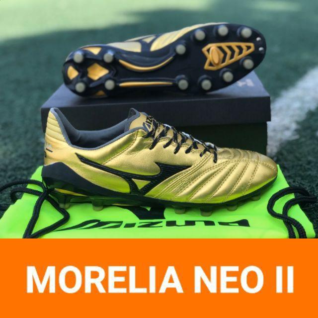 รองเท้าฟุตบอลรุ่น MIZUNO MORELIA NEO II MIJ - GOLD/BLACK