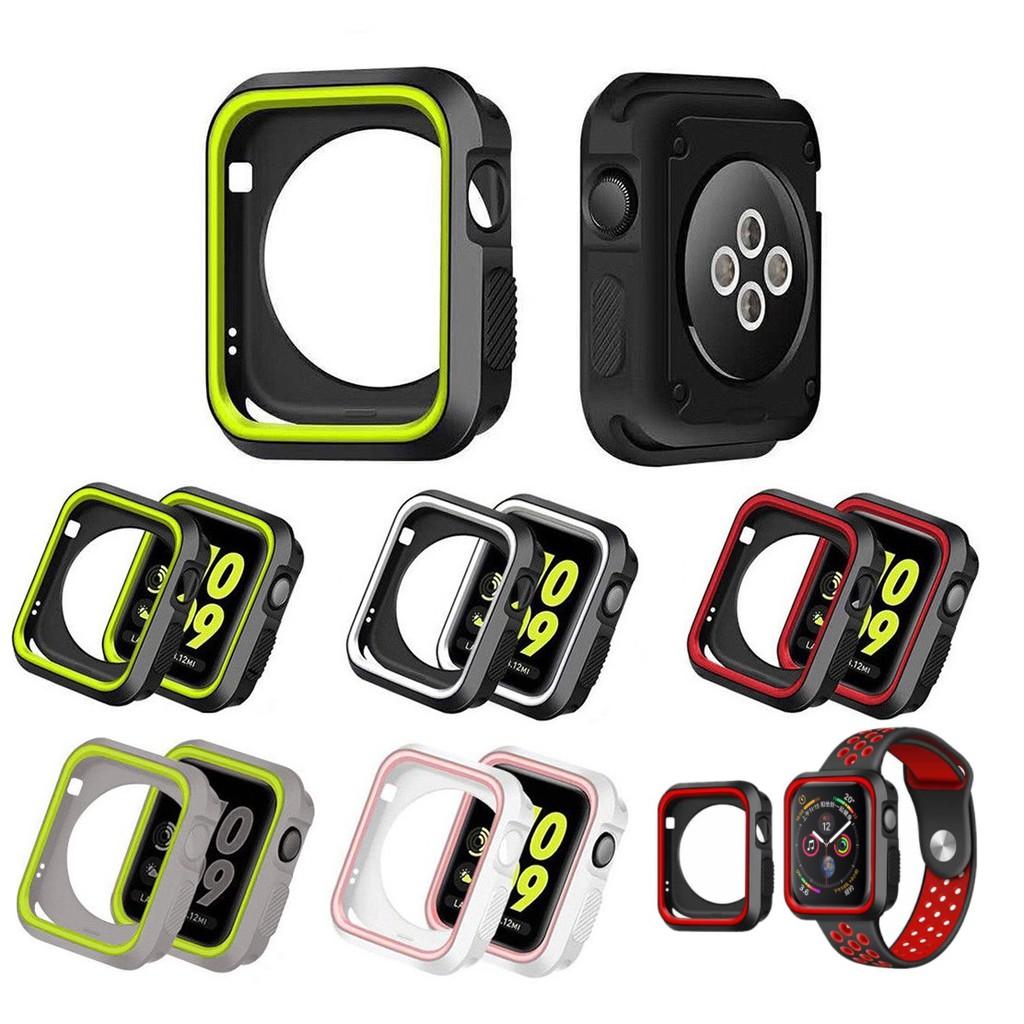 เคส Apple Watch ขนาด 38 มม. 40 มม. 42 มม. 44 มม. TPUหุ้มซิลิโคนสีสันอ่อนสำหรับ iWatch Series6/5/4/3/2/1 / Apple Watch SE Case