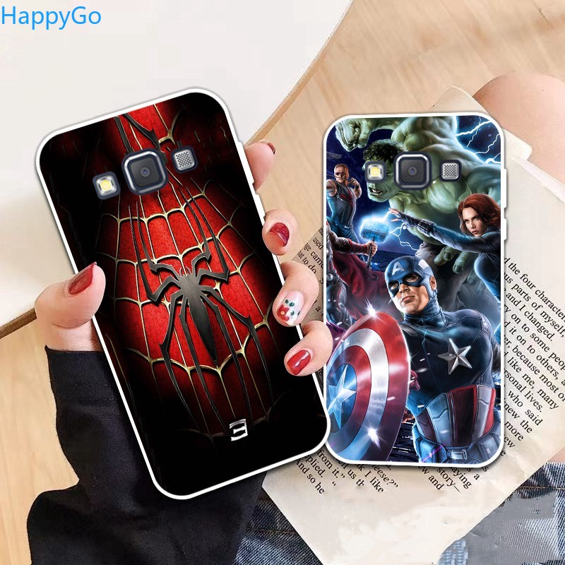 Happigo-Samsung A3 A5 A6 A7 A8 A9 Star Pro Plus E5 E7 2016 2017 2018 Spiderman pattern-1 Soft Silicon Case Cover