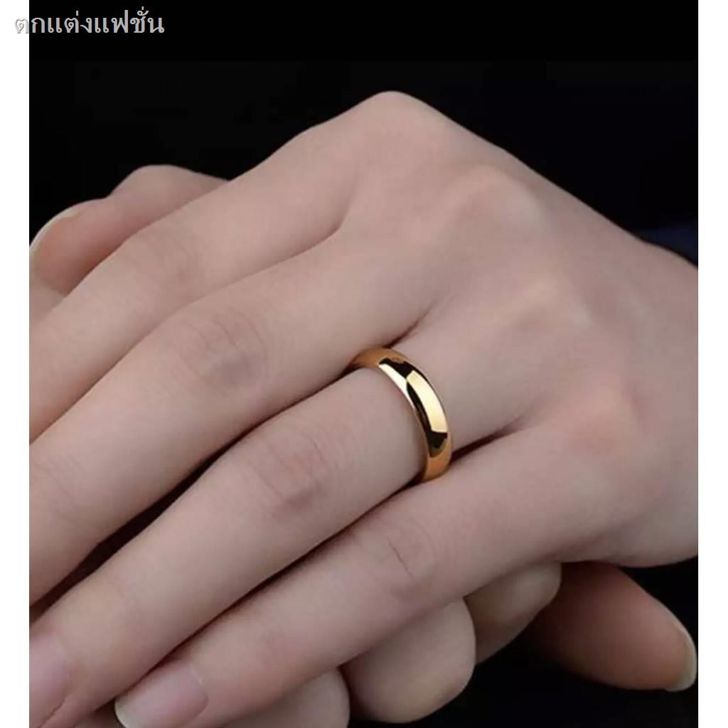 ⚡2021ราคาต่ำsale⚡ร้อน❅☫▪แหวนเกลี้ยง แหวนเศษทองเยาวราช ขนาด1-3สลึง แหวนหุ้มทองคำแท้ งานไมครอน กว้าง 3 มิล