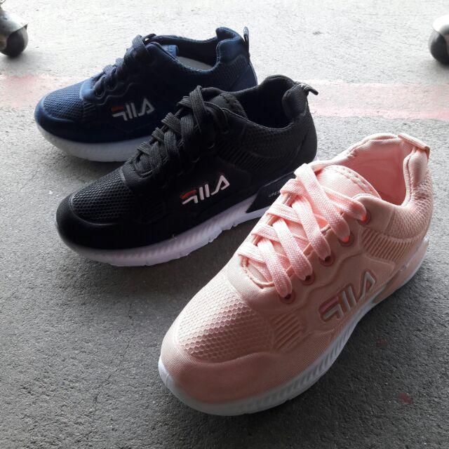 köpa försäljning söt 2018 sneakers Fila รองเท้าผ้าใบฟิล่า ผู้หญิง สีดำ นิ่ม เบา มาใหม่ค่ะ(เท้าอวบ บวก ...