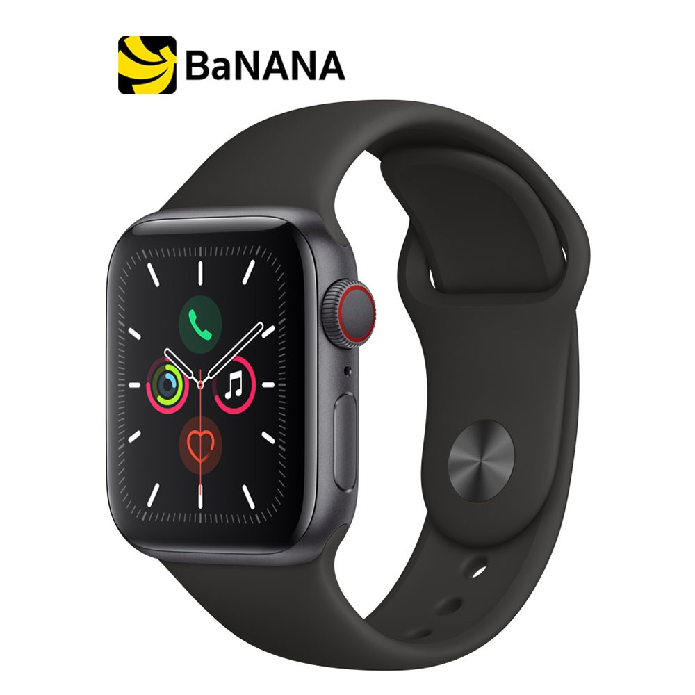 Apple Watch Series 5 GPS + Cellular  Space Grey Aluminium Case with Black Sport Band