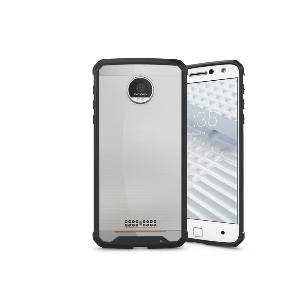 Moto Z / Z Droid Acrylic PC AirBag 360° Shockproof Case