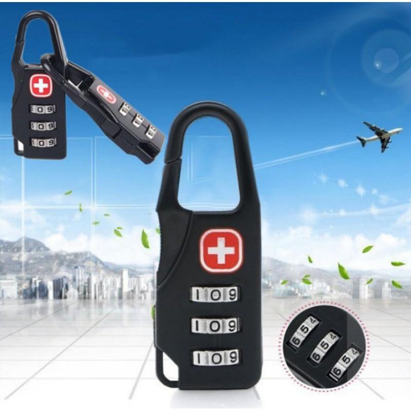 Swiss กระเป๋าเดินทางล้อลากขนาดมินิมีซิปมีรหัสผ่านเหมาะกับการเดินทาง