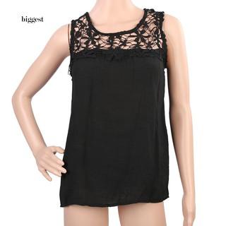 0e70101e1da5 ☆BIG☆Women s Summer Sexy Sleeveless Lace Collar Blouse Back Bandage Vest  Tops