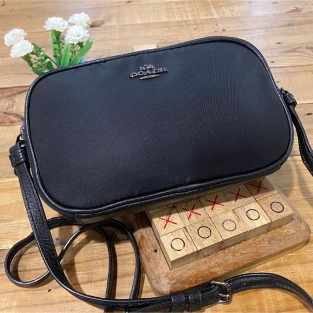 กระเป๋าสะพายข้าง ผ้าไนลอน สีดำ COACH F87093 CROSSBODY POUCH IN NYLON