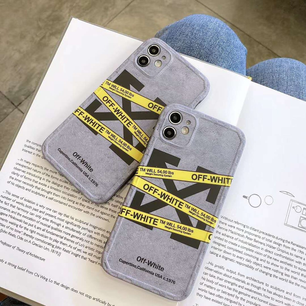 iphone 11 11pro max xs xr max x 8 8plus 7 7plus OFF-WHITE fine hole watch frame frosted IMD shell Apple 7 8 11 x xs xr max phone case COD
