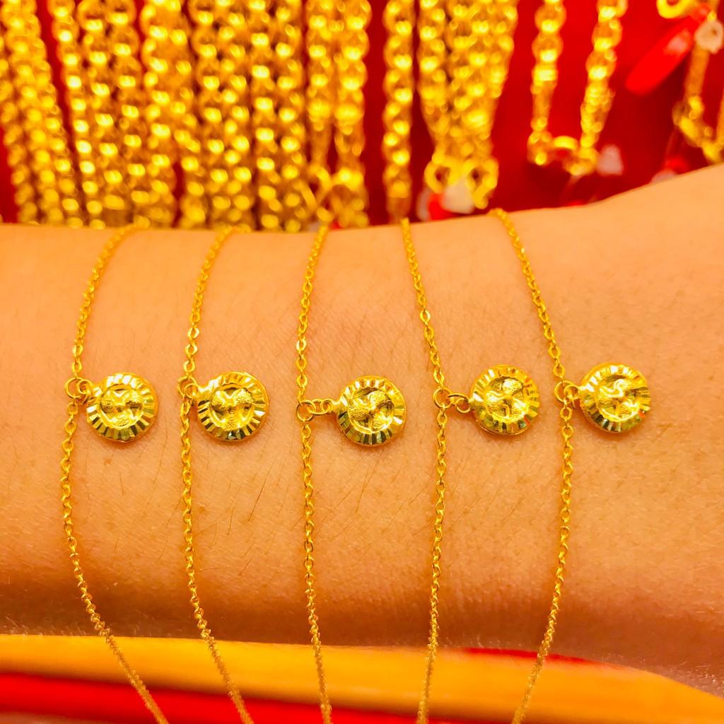 ข้อมือทองคำแท้ นำ้หนัก 1 กรัม  ลายกังหัน ทองคำแท้ 96.5% มีใบรับประกันสินค้า น้ำหนักเต็ม ราคาโดนใจ
