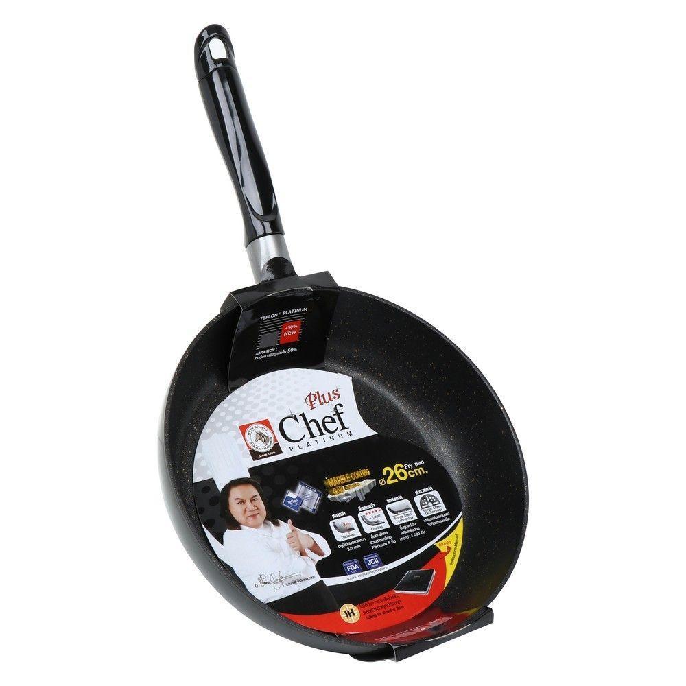 กระทะตื้น 26 ซม. IH PLATINUM CHEF ZEBRA เครื่องครัว Kitchenware Cookware Pan Wok Pot