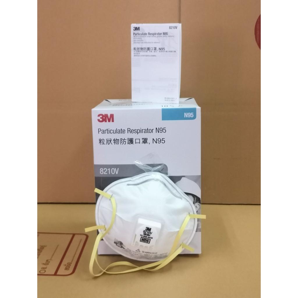3M 8210v N95 [COD] หน้ากากป้องกันฝุ่น  หน้ากาก n95  8210v  ป้องกัน  pm2.5  pm10 มาตรฐาน N95