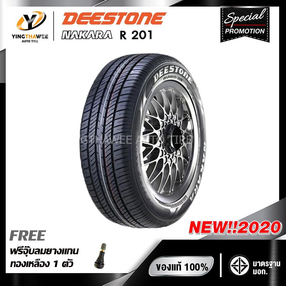 [จัดส่งฟรี] DEESTONE 185/65R14 ยางรถยนต์ รุ่น R201 จำนวน 1 เส้น (ปี2020) แถม จุ๊บลมยางแกนทองเหลือง 1 ตัว